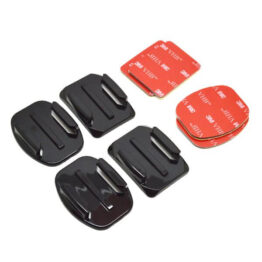 Action Cam Flat and Curved Mounts for Gopro 4pk