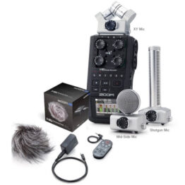 Handheld Recorder with Interchangable Microphones + Shotgun mic + Accessory pack