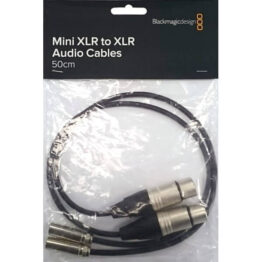 Mini XLR-M to XLR-F 50cm cables 2 pack for Video Assist 4K