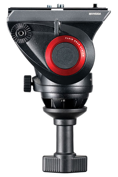 Black Manfrotto MVH500A Pro Fluid Head with 60mm Half Ball