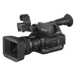 "Three 1/2-inch type Exmorâ""¢ CMOS XDCAM Camcorder with 17x lens"