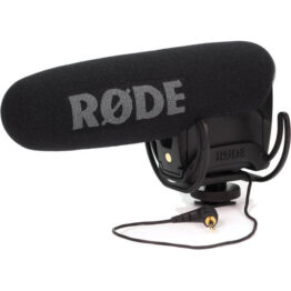 Compact Directional On-Camera Microphone with Rycote Lyre Suspension