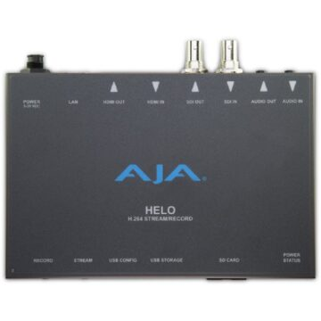 AJA HELO Streaming And Recording Device Top