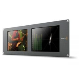 "Blackmagic SmartScope Duo 4K - Dual 8"" LCD Rack Monitors"