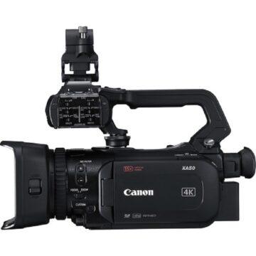 Canon XA50 Professional Video Camera Side View