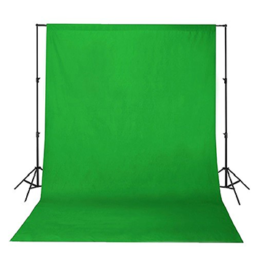 Chromakey Green velvet 5m backdrop stand kit