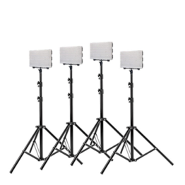 Lighting 4x 560LED kit with stands for chromakeying