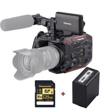 Panasonic EVA1 Super 35 5.7K Camera + VBR89G battery + 128GB V90 SD card