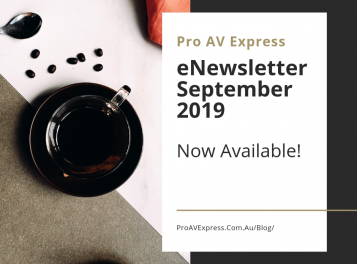 Pro AV Express eNewsletter September 2019