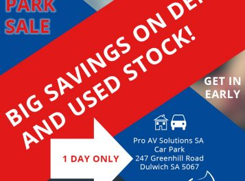 Pro AV Solutions Car Park Sale 23 November 2019