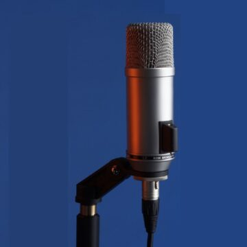 Rode Broadcaster Condenser Microphone Mounted