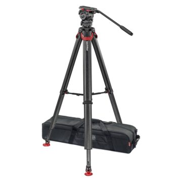 Sachtler Flowtech 75 Carbon Fibre Camera Tripod With FSB-6 Fluid Head, Mid Spreader